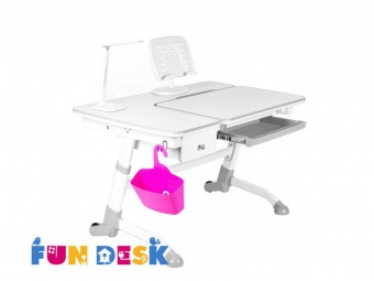 fundesk amare grey with drawer с аксессуарами