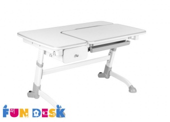 fundesk amare grey with drawer