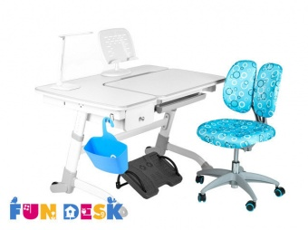 fundesk amare grey with drawer с креслом SST5