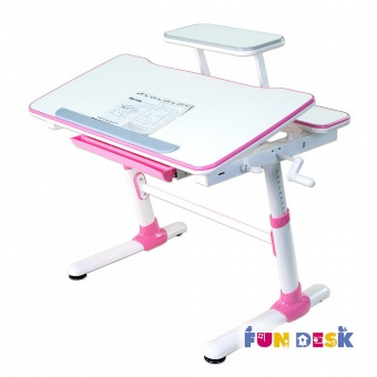 fundesk carezza pink с полкой для книг